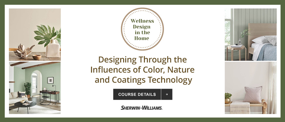 This course will explore the dynamics impacting residential design in the COVID era, identify the role that paint technologies can play in helping promote indoor air quality, review how intrinsic color is in the well-being discussion, and identify design elements that harness the power of nature to promote physical and emotional well-being.